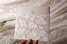 Lace Floral Wedding Invitation #weddbook #wedding #lace #invitation