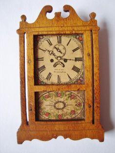 Antique TynieToy Tynie Toys Miniature Wooden Mantel Clock Dollhouse Furniture in Dolls & Bears, Dolls' Miniatures & Houses, Furniture | eBay
