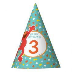 Sesame Street | Elmo - Cupcake & Confetti Birthday Party Hat