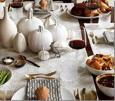 design cocktail: Modern Thanksgiving tablescapes