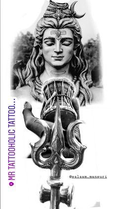 Hindu Tattoos, God Tattoos, Religious Tattoos, Arte Shiva, Shiva Art, Lord Shiva Hd Images, Shiva Lord Wallpapers, Tatoo Pic, Lord Shiva Sketch