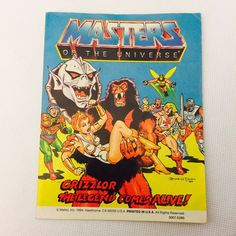 GRIZZLOR THE LEGEND COMES ALIVE Mini Comic He-Man Masters of the Universe MOTU