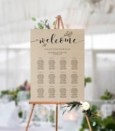 Large 24x36 or A1 Seating Plan. Wedding Seating Chart Purple Template