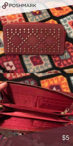 Burgundy wallet Burgundy wallet, gently used Rue21 Bags Wallets