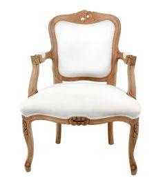 #fauteuil #mobilier #blanc #louisXV