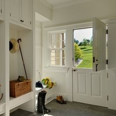 15 Old House Features We Were Wrong To Abandon- Love this mudroom and dutch door. Old Fashioned House, House Design, House, Interior, Traditional House, Home, Old House, New Homes, Dutch Door