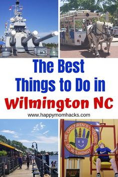 Ultimate Guide of Things to Do in Wilmington NC with Kids. Tips on visiting Wilmington NC Beaches, Battleship North Carolina, Riverwalk, NC Aquarium & Wilmington Nc Beach, Wilmington North Carolina, North Carolina Vacations, Travel With Kids, Family Travel, Family Vacations, Beach Vacations, Battleship North Carolina, Packing List For Vacation