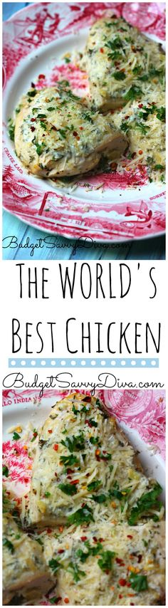 Best Chicken EVER! Perfect chicken to make dinner this week - Also it is gluten free - LOVE LOVE LOVE this recipe The World's Best Chicken Recipe