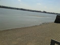 Looking out at the thames. thames barrier park london.
