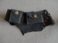 Ashen Coal Utility Belt 32-37  leather by ArchaicLeatherworks