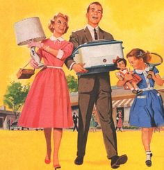 Retail Therapy… detail from 1955 Top Values Stamps ad.
