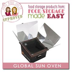 The global sun oven allows you to cook with the power of the sun. Bake bread, make casseroles, cook dinners without having to store nearly as much fuel in times of powerless emergencies, or everyday!