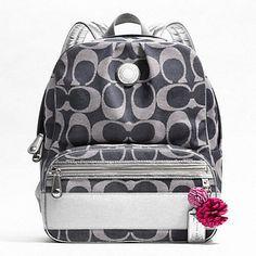 219f1e786224 COACH bookbag Striped Backpack