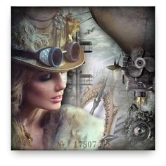 """""""Steampunk"""" by debraelizabeth ❤ liked on Polyvore featuring art"""