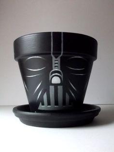 Darth vader flower pot