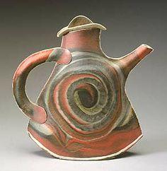 Spiral Teapot: Kaete Brittin Shaw: Porcelain Teapot - Artful Home