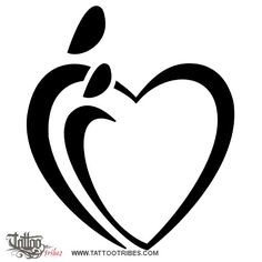 Parent´s heart, this design symbolizes the love existing between parent and daughter.    It represents two embracing persons, an elder one and a younger one, whose union gives shape to the heart.