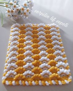 Crochet Mittens - Diadema a Crochet en punto tunecino de onditas en con flores tejido tallermanualperu Crochet Afghans, Baby Blanket Crochet, Crochet Doilies, Crochet Stitches, Embroidery Stitches, Crochet Baby, Knitting Blogs, Knitting For Beginners, Knitting Patterns