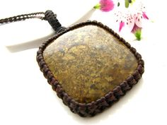 Bronzite Necklace / Bronzite jewelry / Bronze Brown / Macrame necklace / Healing stones / for her  / for him / healing theme