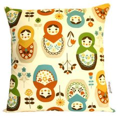 Russian dolls cushion