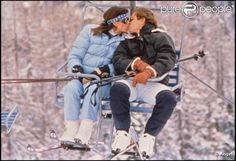 Caroline and Stefano on a ski holiday