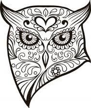 Sugar Skull Outline | Skull Tattoo Skulltattoo Sugarskull ... - photo#45