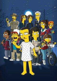 Stranger things the simpsons Poster Stranger Things, Stranger Things Kids, Stranger Things Aesthetic, Stranger Things Season, Stranger Things Netflix, History Channel, Pop Vinyl Figures, The Simpsons, Pretty Little Liars