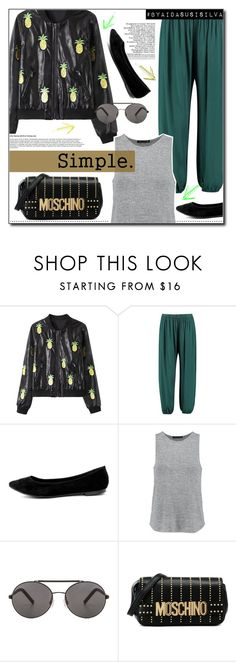 """""""Comfort for the lazy days."""" by aidasusisilva ❤ liked on Polyvore featuring WithChic, Boohoo, Breckelle's, rag & bone, CO, Seafolly and Moschino"""