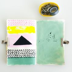 Elma de Jonge | art journal page #artjournal #art #painting #design #color #spring