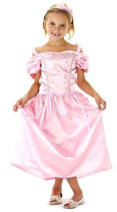 Prinsessenjurk roze zilver Glitter