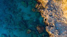 Beach at Sunrise, Rhodes Greek Island, Aerial View Drone Photography, Greece Travel, Greek Islands, Rhodes, Aerial View, Sunrise, Beach, Top, Outdoor