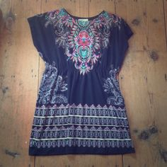 Fun print cotton dress Adorable cotton dress. Great as a cover up or casual day dress Xxi Dresses