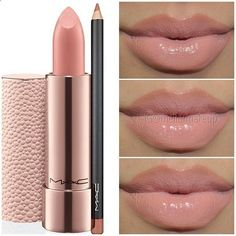 MAC lipstick - Peachstone. Such a pretty nude color.