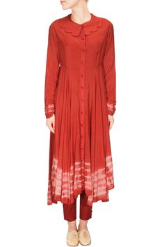 Tomato red resist dye tunic dress available only at Pernia's Pop Up Shop..#perniaspopupshop #shopnow #happyshopping #designer #newcollection #winterfestive #clothing #KaSha