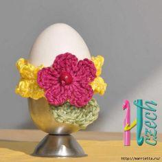 обвязка крючком пасхальных яиц