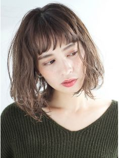 Bob Haircut With Bangs, Short Bangs, New Haircuts, Bob Hairstyles, G Hair, Hair Arrange, Putting On Makeup, Cool Hair Color, Perm