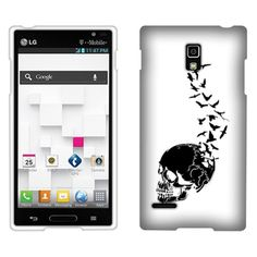 This Feather Of A Skull #Faceplate #Snap-On #Hard #Cover #Case will make your #LG #Optimus #L9 #P769 more cute. It offers the perfect way to add protection and create individual style for your LG Optimus L9 P769. Only $7.99