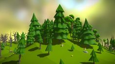 Stylized low poly forest pack. 78 unique hiqh quality assets ready for your game.<br>Cgtrader: https://www.cgtrader.com/3d-models/plant-tree/leaf-tree/forest-pack
