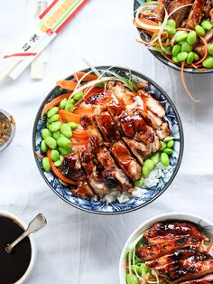 7 Spice Teriyaki Chicken Rice Bowls - foodiecrush