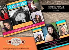 Khloe+Graduation+Announcement+Template+5x7+for+by+deeshutterbee,+$8.00