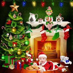 pere noel by louiseL - Digishoptalk - The Hub of the Digital Scrapbooking Community