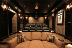 basement home theater ideas (home theater ideas) Tags: small basement home theater, basement home theater diy, basement home theater bar designs Home Cinema Room, Home Theater Decor, At Home Movie Theater, Best Home Theater, Home Theater Speakers, Home Theater Rooms, Home Theater Seating, Home Theater Projectors, Home Theater Design