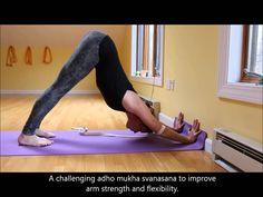 Adho Mukha Svanasana variation for arm strength and flexibility