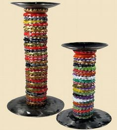 Recycled Bottle Top Candle Holder