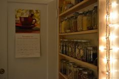 """I need a setup like this to replace the disarray that is my """"pantry"""" cabinet."""