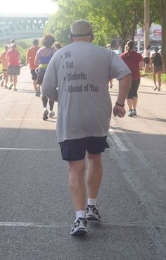 Best. Shirt. Ever.  I love reading shirts while racing!