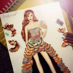 25 Beautiful Color Pencil Drawings and Creative Art works by Kristina Webb 3 color pencil drawing by kristina Kristina Webb Drawings, Kristina Webb Art, Fashion Design Drawings, Fashion Sketches, Fashion Illustrations, Pencil Shavings, Pencil Art, Pencil Sharpener, Pencil Photo