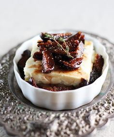Appetizer Recipe: Roasted Feta Cheese with Fig-Thyme Compote — Recipes from The Kitchn