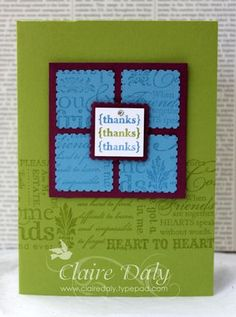 Stampin Up Pretty Postage