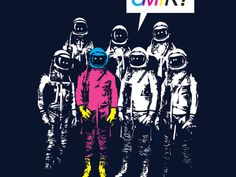 astronauts+laugh | Officer Friendly T Shirt